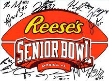 2017 Reese's Senior Bowl team hand signed autographed 8x10 football photo COA