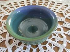 Hand Thrown Pottery Bundt Baking Dish  -  Blues/Greens  -  Small Size - Signed