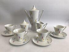 ALKA Mokka-Service für 4 Persoen 50er Jahre Design Porzellan Tassen Kanne 50s