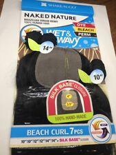 "NAKED NATURE_Wet &Wavy_BEACH CURL 7PCS_10""/10""/12""/12""/14""/14""+SILK BASE Closure"