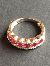 ruby and zircon sterling silver ring size 7