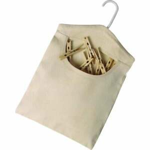 Homz 15 In. x 11 In. Cotton Canvas Clothespin Bag 1220214  - 1 Each