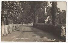 """"""" FOOTS CRAY LANE """" BEXLEY. VINTAGE 1916 REAL PHOTO POSTCARD."""
