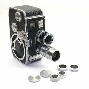BOLEX B8 VS 8mm Filmkamera mit 2 Kern-Paillard Objektiven, Zubehör
