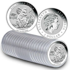 2017-P Australia $1 1 oz Silver Koala - Roll of 20 Coins BU (Mint Caps) SKU45139