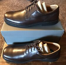 Mens Hush Puppies Strategy Oxfords Waterproof Brown Leather Shoes 15M New In Box