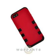 Apple iPhone 5/5S/SE TUFF Hybrid Case - Red/Black Case Cover Shell Protector