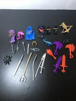Fisher Price Imaginext Medival Knight Accessories Armor Weapons Lot of 26