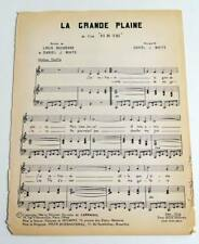 Partition vintage sheet music WESTERN Dix du Texas JOHN WAYNE GARRY COOPER *60s