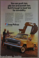 1982 JEEP Pickup advertisement, American Motors, backhoe load