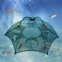 Automatic Fishing Bait Trap Crab Net Crawdad Shrimp Cast Dip Cage Fish Minnow