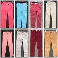 Girls Twill Strechy Ex Zara Kids High Waist Skinny Jeans Christmas Pant Trouser