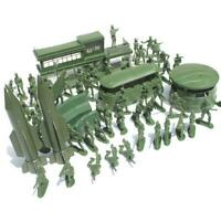 56pcs Military Model Playset Toy Soldier Army Men Action Play Set Gifts H7U5