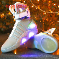 BACK TO THE FUTURE MEN WARRIOR BASKETBALL Y2 LED LIGHT SHOES high tops SNEAKERS