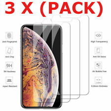 3-Pack For iPhone 11 Pro Max XS Plus X 8 7 6 5 Tempered Glass Screen Protector