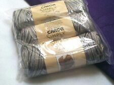 NEW Caron Simply Soft Paints Yarn 3 - 4oz Skeins Factory Packaged GRANITE