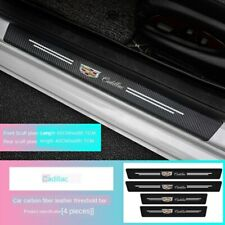 Car Logo Sill Bar Anti-stepping Carbon Fiber Leather Protective Patch Scratch