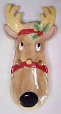 "Fitz And Floyd ""Snack Therapy"" Reindeer Server Tray Plate or Hang on Wall"