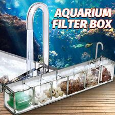 2/3/4/5/6 Acrylic Grids Aquarium Fish Tank Pond External Filter Box Water Pump