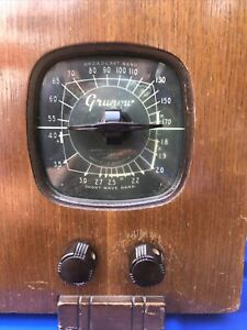 Antique Grunow Short Wave Superheterodyne Tube Radio *working* Model No.576