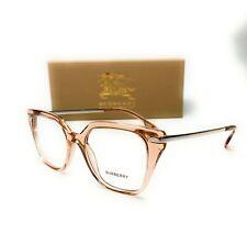 Burberry BE2310 3358 Transparent Peach Demo Lens Women Eyeglasses Frame 52mm