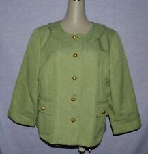 SEMANTIKS SZ XL GREEN JACKET BLAZER