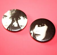ONE OF A KIND 1980S STYLE STRAWBERRY SWITCHBLADE ROSE MCGOWEN BUTTON PIN BADGE