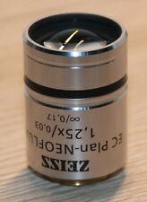 Zeiss Mikroskop Microscope Objektiv EC Plan-NEOFLUAR 1,25x/0,03 (440300-9901)