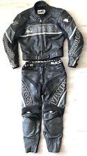 2-tlg. Lederkombi VANUCCI Gr. 50 Motorradkombi Schwarz Weiß Silber Leather Suit