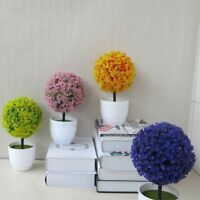 6 Color Cute Artificial Topiary Tree Potted Ball Plants Garden Home Decor Hot