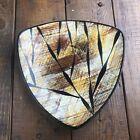 Mid-Century Enamel Dish Plate MCM - Atomic Triangle Eames SIGNED - Fantastic!