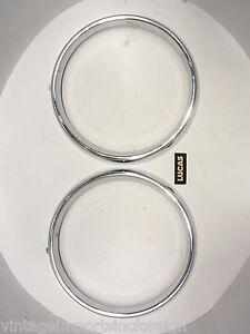 Headlamp Rims Fits Hillman Super Minx MK1 & MK2 NOS Lucas  (QTY 2) 5452 1434