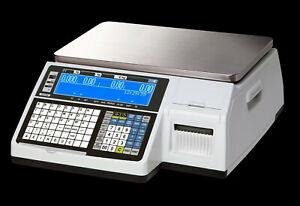 Etiketten Waage CAS CL5200-N 6/15kg neu Vorverpackung 6000 Artikel geeicht #
