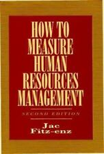 How to Measure Human Resources Management Hardcover by Jac Fritz-enz