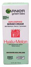 New Garnier Green Labs Replumping Serum Cream Hyalu-Melon Exp 11/2022 Full sz