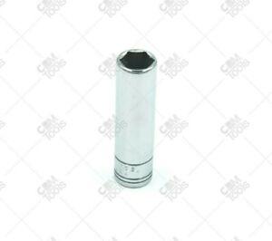"SK Hand Tools 41706 1/4"" Dr. 10mm 6pt Deep Metric Chrome Socket"