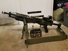 Custom Painted Knight's Armament Stoner 96 Airsoft lmg with accessories
