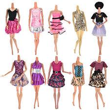 10Pcs Fashion Random Style Party Wedding Dresses Clothes Gown For Barbie Dolls