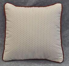 "Pillow made w Ralph Lauren Cold Spring Red Pinstripe Fabric 12"" / trim cording"