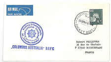 VV280 1984 New Zealand Aukland France Cover {samwells-covers}