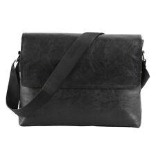 Men Cross Body Shoulder Genuine PU Leather Satchel Messenger Briefcase Bag
