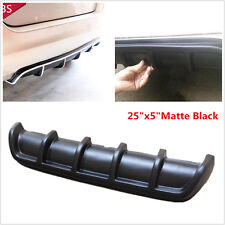 "25""x5"" Black ABS Universal Rear Shark Fin Style Curved Addon Bumper Lip Diffuser"
