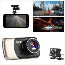"""4"""" 1080P 170° Dual Lens Car H30 Video Recorder Camera Dash Cam Motion Detection"""