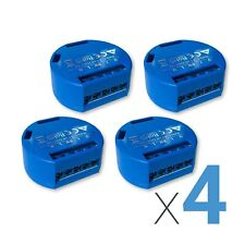 LOT of 4 SHELLY 1, Smart Home Device, 4-pack Relay Switch 16A, Wi-Fi