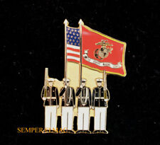 # US MARINE CORPS COLOR GUARD LAPEL HAT PIN USA UP BATTLE COLORS USMC VETERAN MR