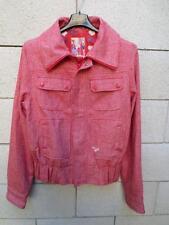 Blouson veste ROXY rouge rose laine mélangée taille M