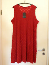 BORIS INDUSTRIES Tüll Kleid Stretch 44 46 48 NEU rot Ausbrenner-Kreise LAGENLOOK