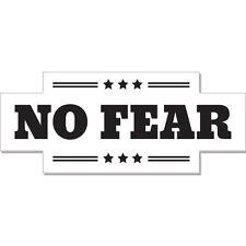 "No Fear car bumper sticker decal 8"" x 3"""