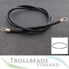 TROLLBEADS Lederkette schwarz 50 cm - Leather chain - Kette