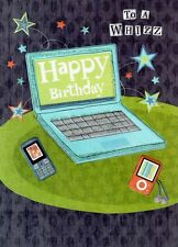 Arty Glitter Open General Birthday Card  ' Whizz Kid ' Quality Greeting Cards